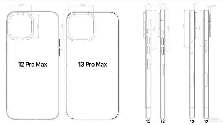 Boceto del diseño de iPhone 13 Pro Max